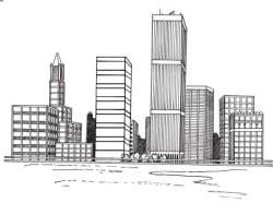 איור של מבנים שנבנו באמצעות השקעה בנדלן